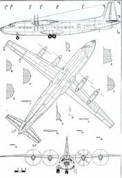 Антонов Ан-10 чертежи