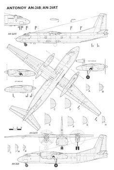 Антонов Ан-24 чертежи