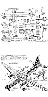 Антонов Ан-24Б чертежи