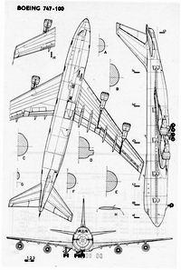 Boeing 747-100 чертежи