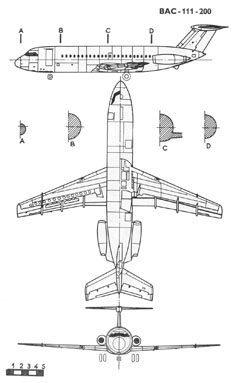 BAE BAC-111 чертежи