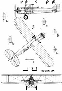 Boeing Model 40A чертежи