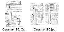 Cessna-185 чертежи