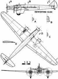 Dewoitine D.333 чертежи