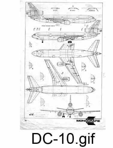 Douglas DC-10 чертежи
