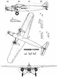 Fokker F.XVIII чертежи