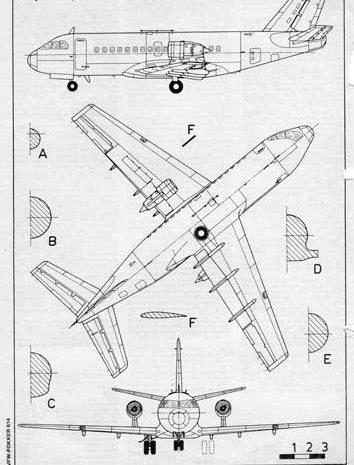 VFW-Fokker 614 чертежи