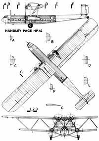 Handley Page HP.42 чертежи
