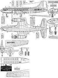 Ильюшин Ил-14 чертежи