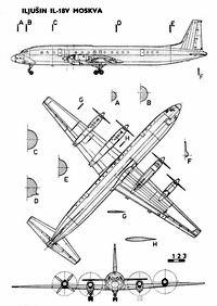 Ильюшин Ил-18 чертежи