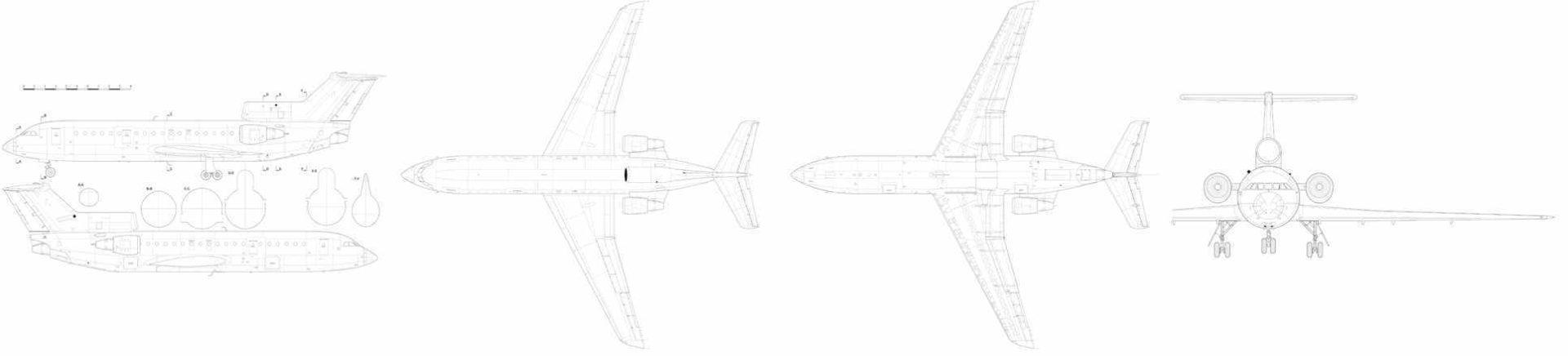 Яковлев Як-42Д чертежи