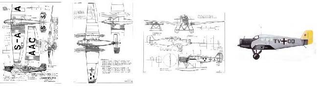 Junkers F.13 чертежи