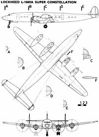 Lockheed L-1049A чертежи