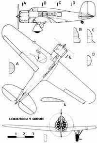 Lockheed Model 9 чертежи