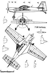 Terzi T-30 Katana чертежи