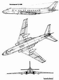 Туполев Ту-124 чертежи