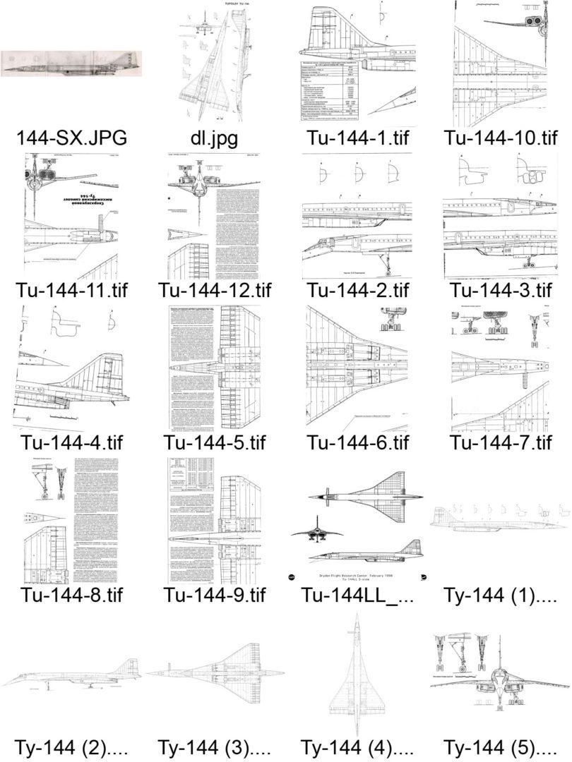 Туполев Ту-144 чертежи