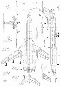 Туполев Ту-154М чертежи